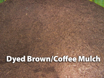 dyed brown/coffee mulch